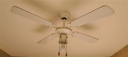 Ceiling fans x3, light & 3 speed
