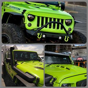 Jeep Wrangler combo deal - Hood , grill and snorkel