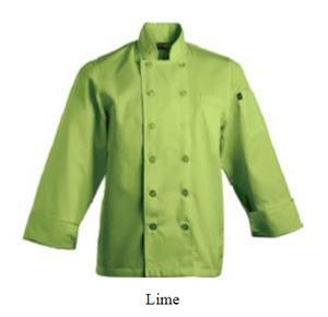 Savona Long Sleeve Chef Jacket - Lime