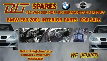 BMW E60 2001  MODEL INTERIOR PARTS FOR SALE