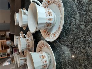 Dinner set 48 piece Classic Royal Derby Replica design, + 16 piece tea set.