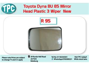 Toyota Dyna BU 85 Mirror Head Plastic 3 Wiper  for Sale at TPC