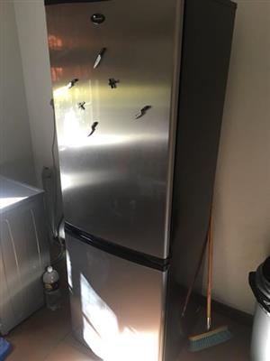 Silver fridge with freezer