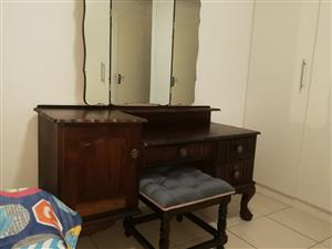 Imbuia Ball And Claw Dressing table