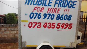 Mobile fridge for sale R30 000 and price is Negotiable