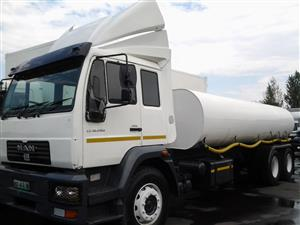 Water tankers for sale.