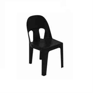 BLACK PLASTIC CHAIRS - ON PROMOTION