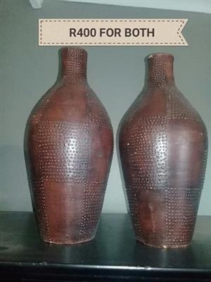 Brown flower vases for sale