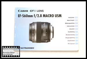 User Manual - Canon EF-S 60mm f/2.8 Macro USM