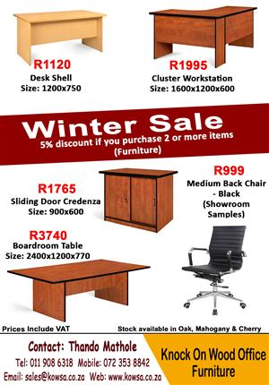 Massive Winter Sale! Office Furniture and Chairs.