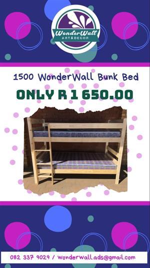 1500mm Pine Bunk Beds