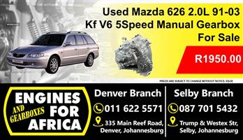 Used Mazda 626 2.0L V6 91-03 Manual 5Speed Gearbox For Sale