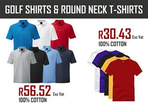 Golf shirt and Round neck