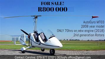 Almost-New Autogyro MT-03 Gyrocopter for Sale!