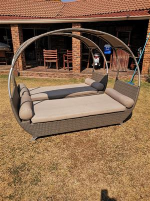 2 x Beautiful Patio/ Pool Halfmoon Day Beds