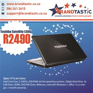 Toshiba Satellite L500 Laptop & Charger @ R2490