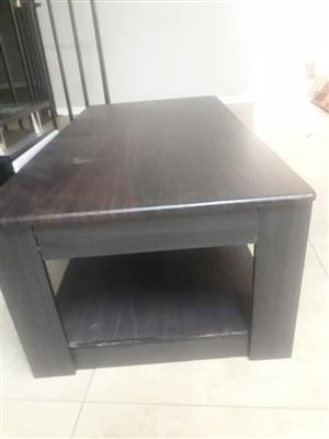 Chocolate brown coffee table