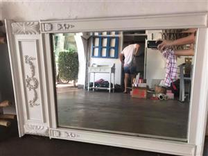 White framed mirror for sale