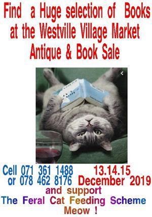 Huge Selection Books for Sale Westville Village Mkt 13.14.15 Dec Meow !