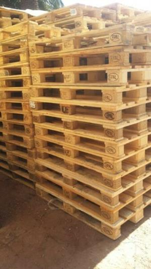 WOODEN PALLETS FOR SALE TO WAREHOUSE AND FACTORIES::EURO/EPAL ,4_WAY 1Mx 1.2M