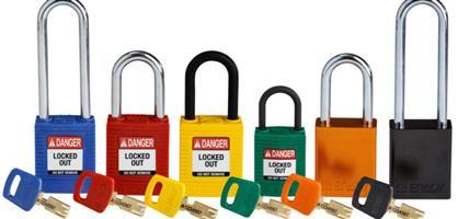 Brady Safety padlocks