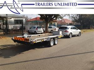 TRAILERS UNLIMITED 5000MM DOUBLE BRAKED AXLE CAR TRAILER.