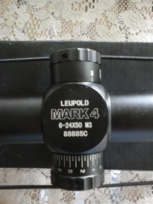 Leopold Mark 4 rifle scope