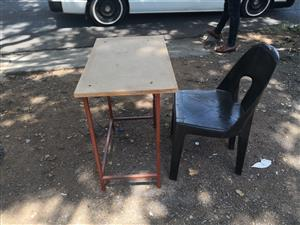 School desk and chairs(15 pieces available)
