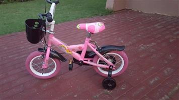 Pink pikachu kiddies bike