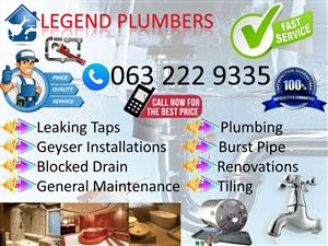 Centurion Plumbers Call 0632229335 Legend Plumbers No call out fee for blockages, leaks, geysers, plumbing services