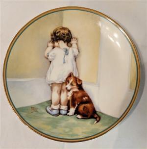 Bessie Pease Gutman Child's Best Friend In Disgrace plate #1 Hamilton Collection