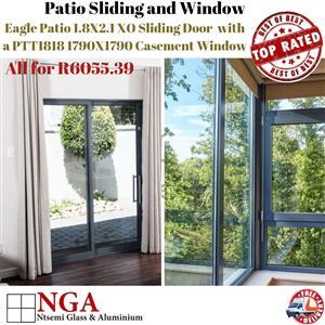 Eagle patio Sliding Door and Casement 30.5 Window