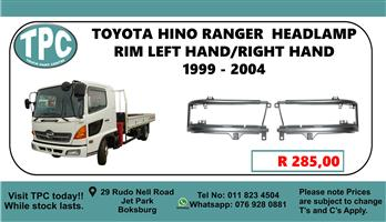 Toyota Hino Ranger  Headlamp Rim Left Hand/Right Hand 1999 - 2004 - For Sale at TPC.