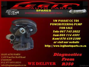 VW PASSAT CC TDI POWER STEERING PUMP FOR SALE