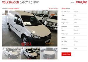 2012 VW Caddy panel van