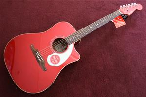 Fender Sonoran Acoustic Guitar - Candy Apple Red - New