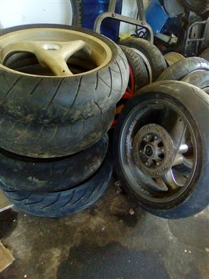 DUCATI/APRILIA/TRUIMP RIMS AND TIRES TO CLEAR @CLIVES BIKES IMPORTS