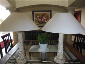 2 Beautiful Wetherlys Lamps for sale