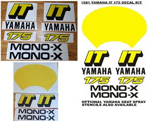 1981 Yamaha IT 175 decals stickers graphics kits., used for sale  Bedworth Park