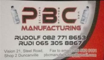 PBC MANUFACTURING PRE-FORMS BOTTLES CAPS