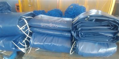9m x 9m heavy duty truck covers/tarpaulins and cargo nets for super-link and tri_axle readily available