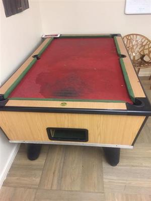 Pool table just standing