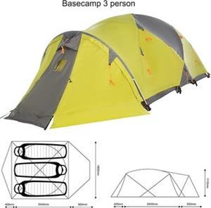 K-Way Basecamp 3 person Tent
