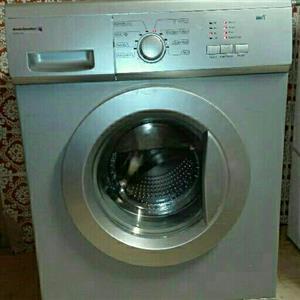 Silver Kelvinator washing machine