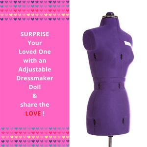 My Double Small Purple Form - Adjustable Dressmaker Doll / Mannequin / Sewing Doll