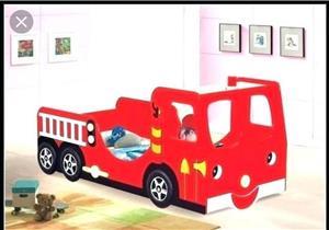 Kids Fire Truck Bed
