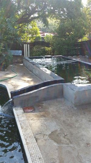 Koi ponds and filters
