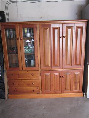 32 Inch TV and Oregan Pine TV display Cabinet for Sale