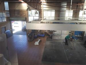 INDUSTRIAL PREMISES 500 SQM IDEAL TYRE FITMENT/ PANELBEATERS/ RETAIL for sale MAIN STREET RTB