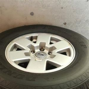 """15"""" ranger mags and tyres full set for sale in good all round condition R4500"""
